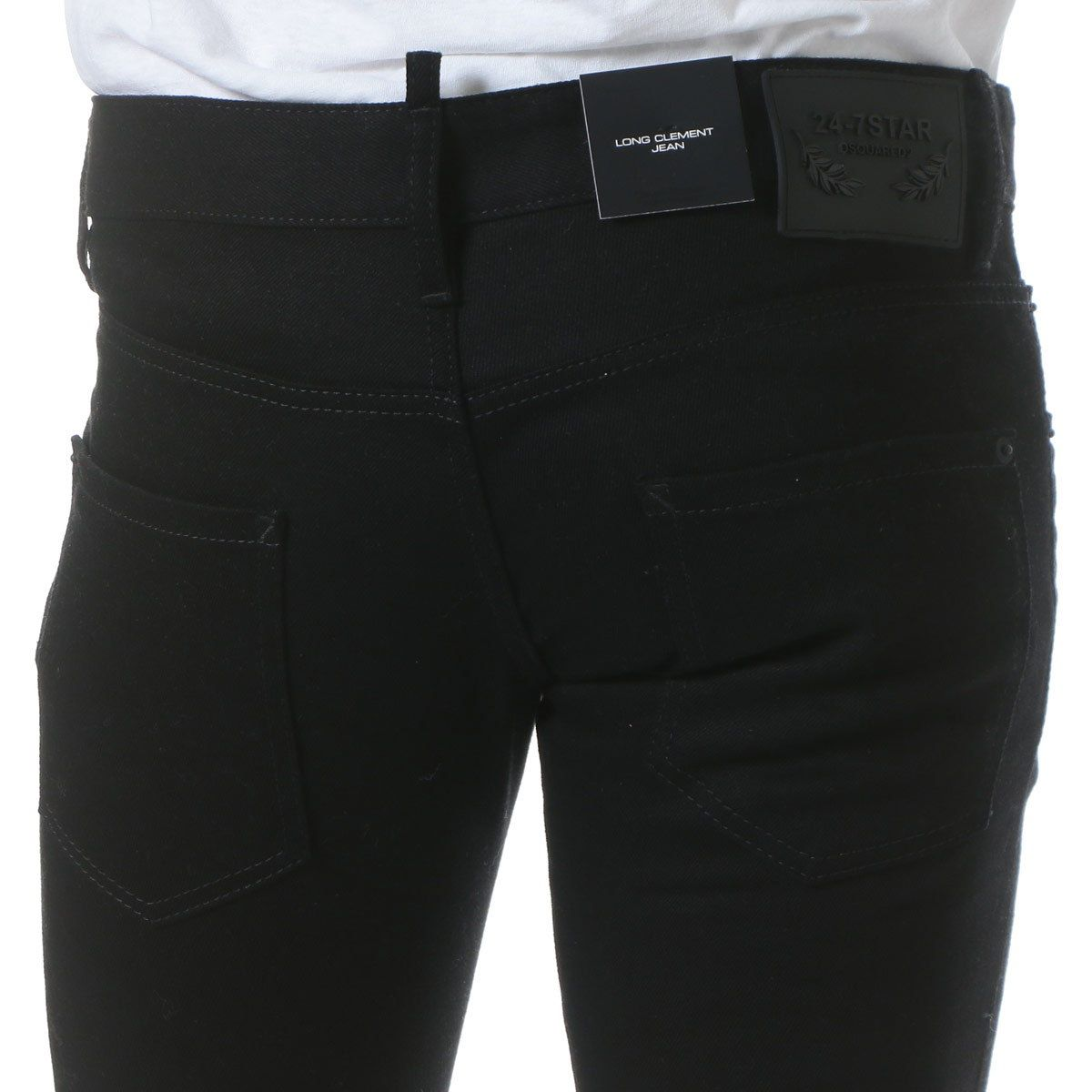 DSQUARED2 (ディースクエアード) 無地 5P ボタンフライ ジーンズ LONG CLEMENT JEAN 【D2LB0219S30564】